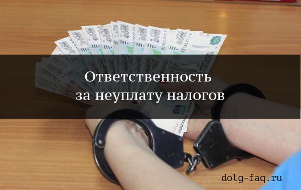 Что будет за неуплату налогов физическим лицом: законодательство РФ, предписанная мера ответственности и опасность подобного проступка