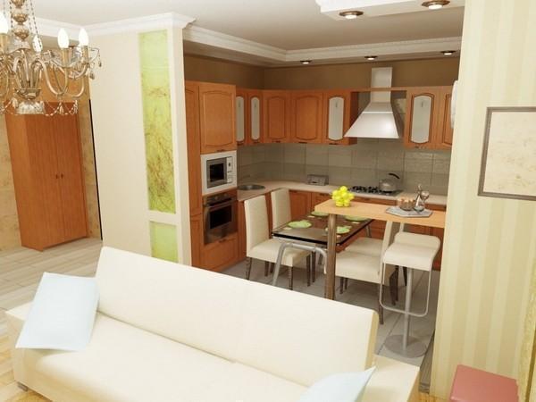 Можно ли узаконить перенос кухни в жилую комнату: как расширить кухню и не нарушить нормативные требования?